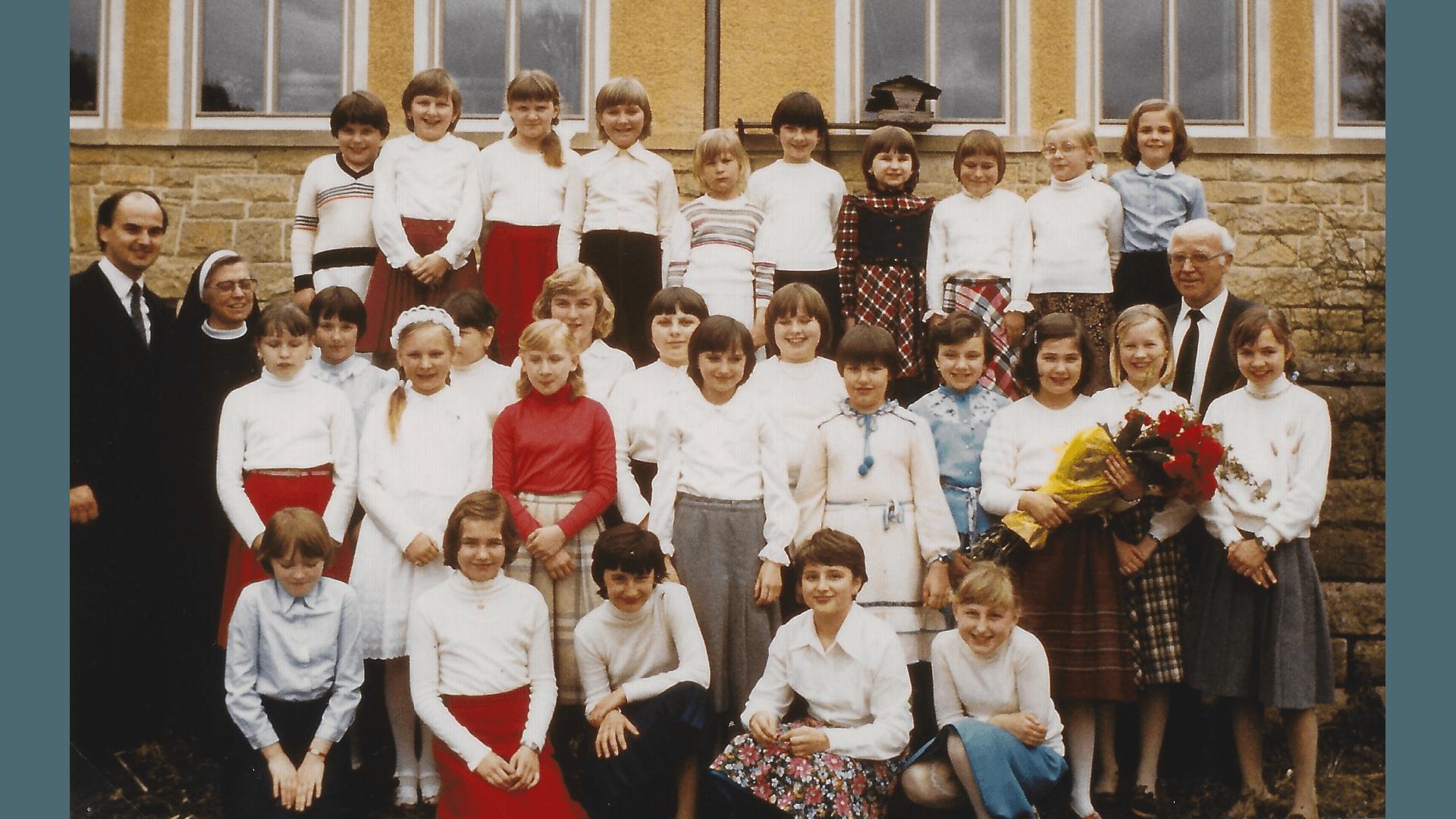 Verabschiedung der Förderklasse 1982. Foto: Archiv Arme Schulschwestern