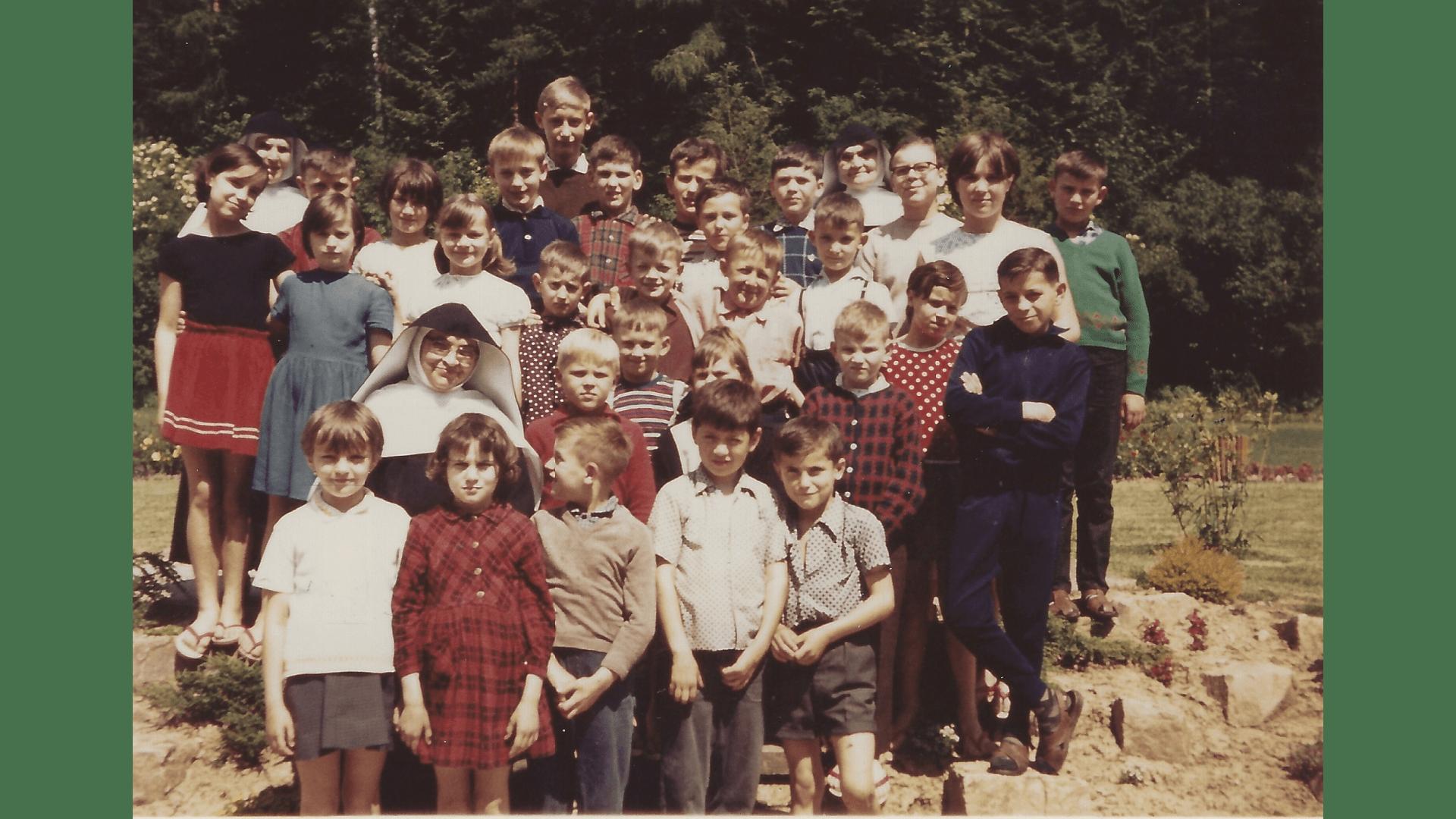Die erste gemischte Gruppe im Jahr 1966/67. Foto: Archiv Arme Schulschwestern