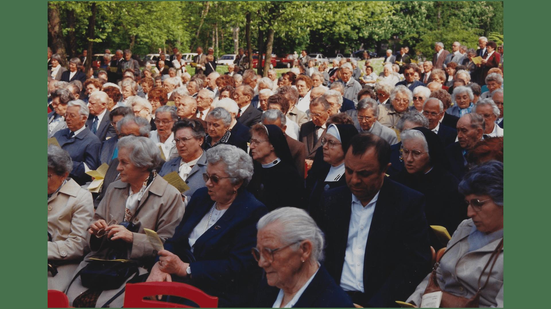 Wallfahrt 1994 – Pilger. Foto: Archiv Arme Schulschwestern