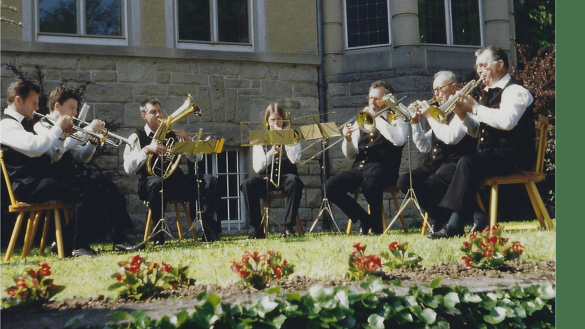 Wallfahrt 1995 - Blaskapelle Franz Haumann, Dießen a. See.  Foto: Archiv Arme Schulschwestern