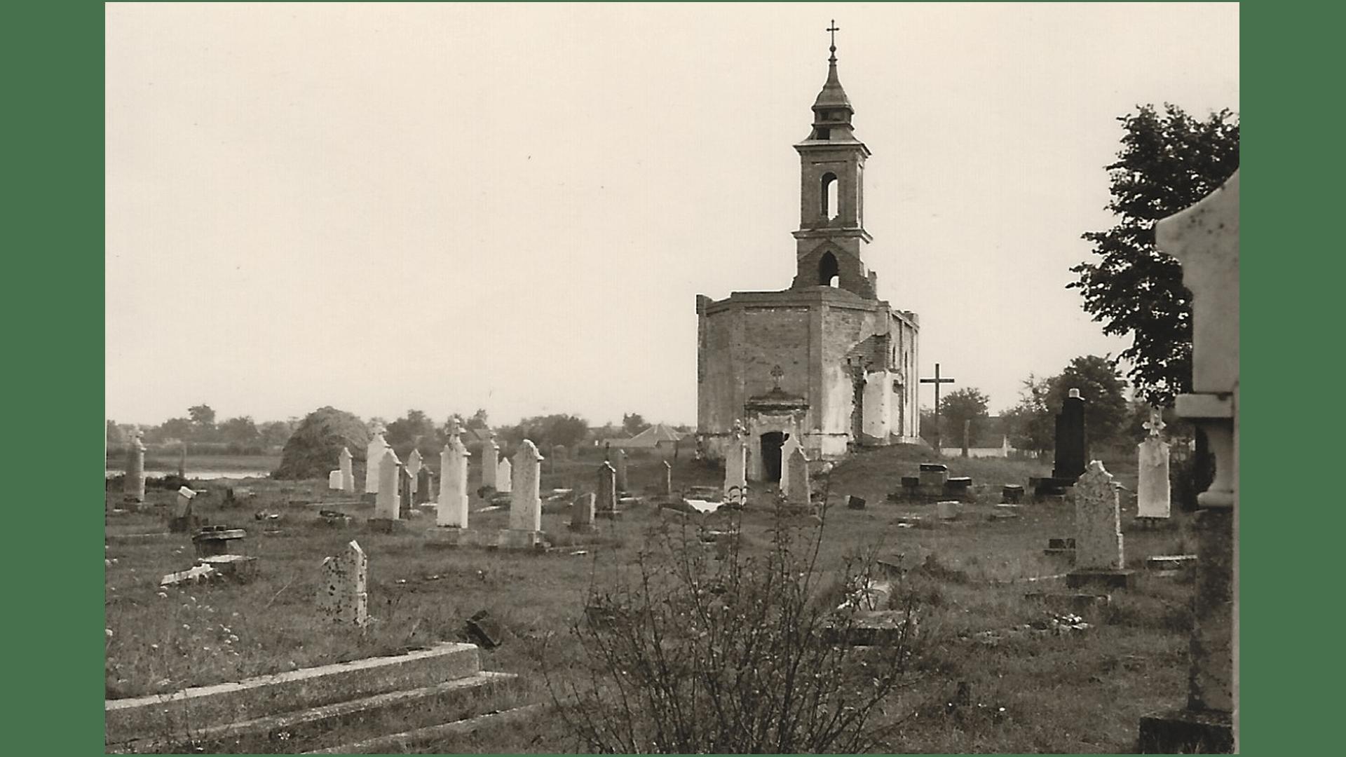 Zerstörter Friedhof 1957. Foto: Archiv Freundeskreis Filipowa