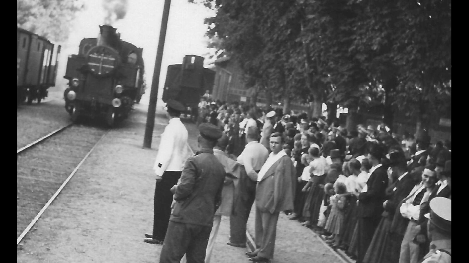 Empfang der Festgäste am Bahnhof