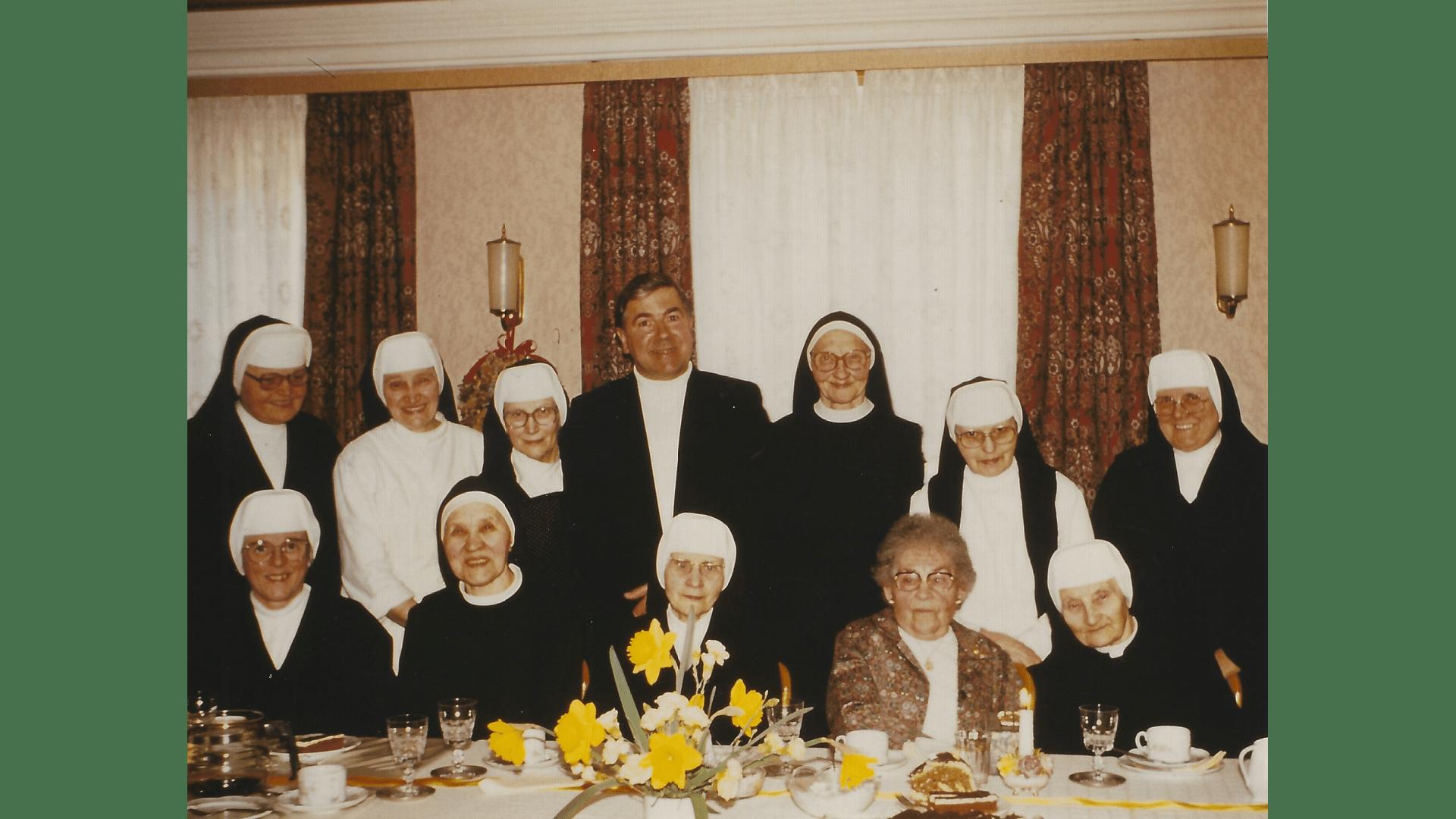 Geburtstagsfeier mit treuen Kurgästen 1984. Foto: Archiv Arme Schulschwestern