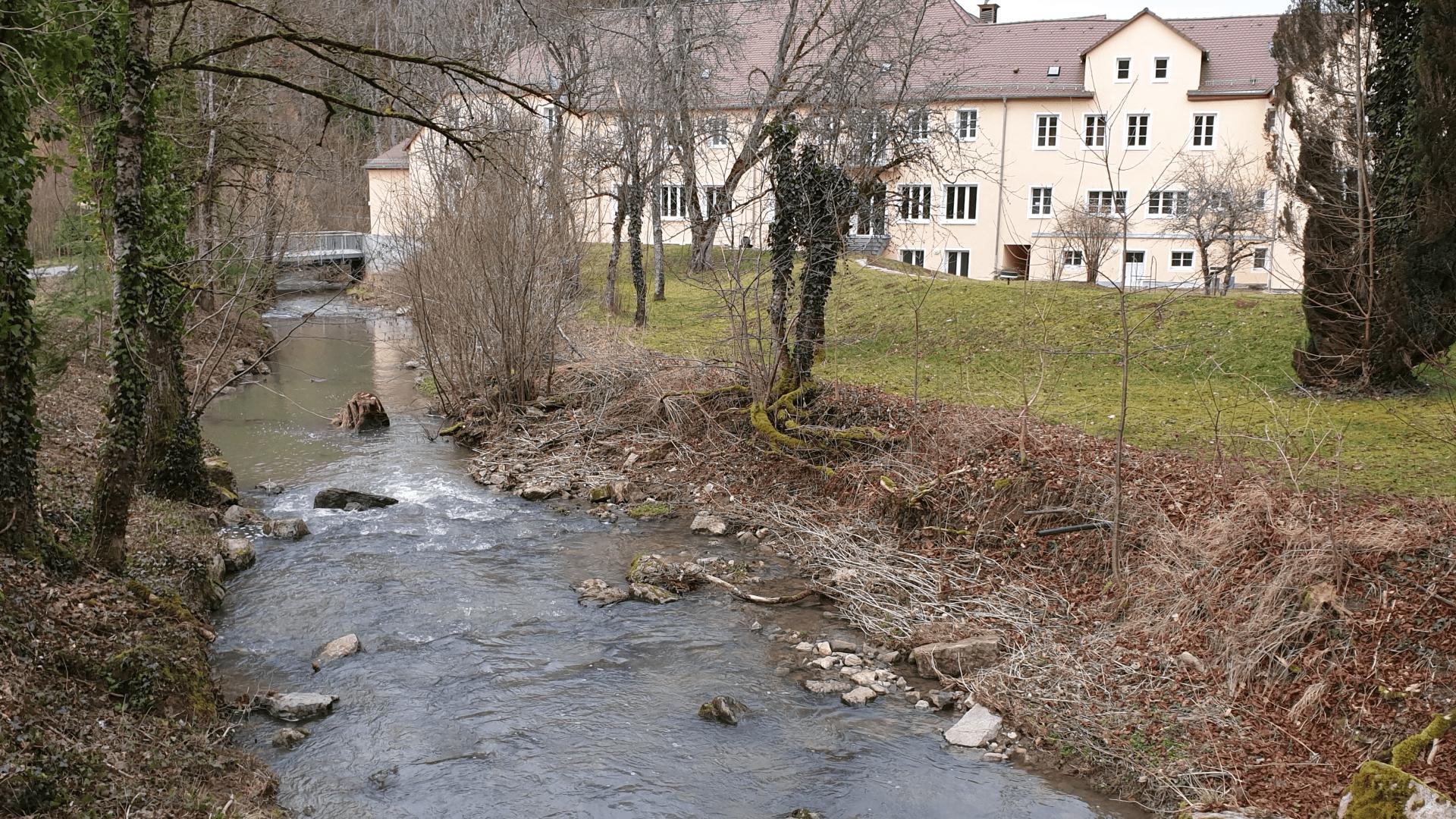 Sanatorium- Ansicht vom Kurpark und Katzenbach; Foto Archiv Arme Schulschwestern